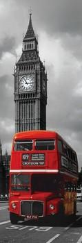 Juliste  Londýn - red bus