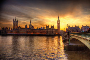 Juliste  Lontoo - Big Ben Parliament