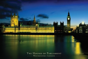 Juliste Lontoo - houses of parliament
