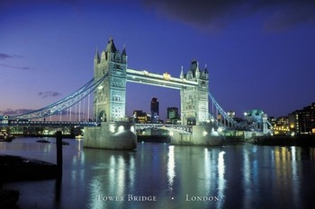Juliste Lontoo - tower bridge II.