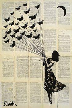 Juliste Loui Jover - Butterflying