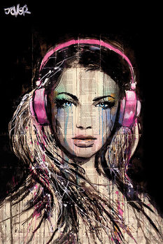 Juliste  Loui Jover - DJ Girl
