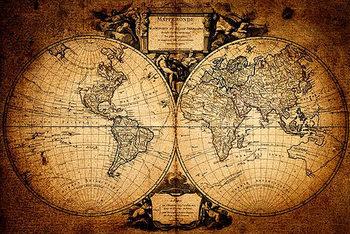 Juliste Maailmankartta - Mappemonde
