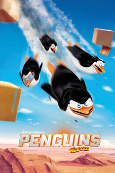 Juliste Madagascarin pingviinit - Flying