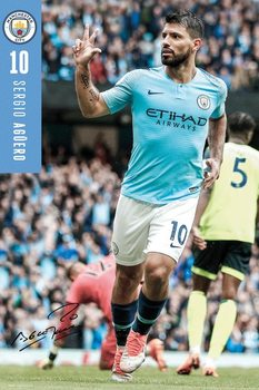 Juliste  Manchester City - Aguero 18-19