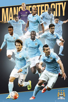 Juliste Manchester City FC - Players 15/16