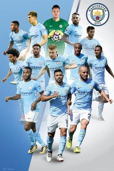 Juliste  Manchester City - Players 17/18