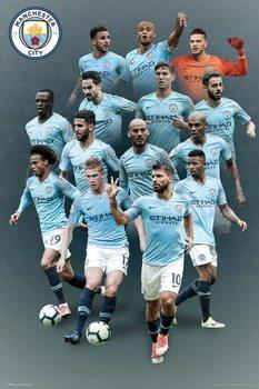 Juliste  Manchester City - players 18-19