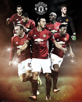 Juliste Manchester United - Players 16/17