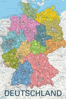 Juliste Map - deutschland political 2011