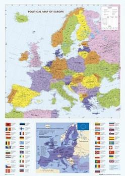 Juliste Map of Europe