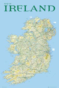Juliste Map of Ireland