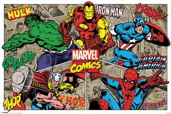 Juliste Marvel Comics - Character Burst