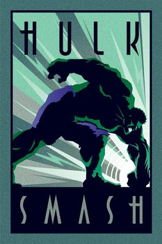 Juliste Marvel Deco - Hulk