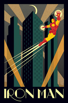 Juliste Marvel Deco - Iron man
