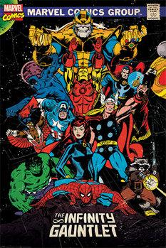Juliste  Marvel Retro - The Infinity Gauntlet