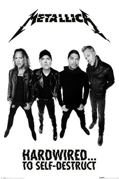 Juliste Metallica - Hardwired Band