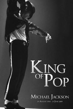 Juliste  Michael Jackson - king b & w