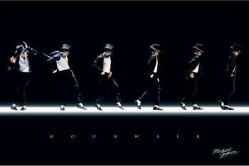 Juliste  Michael Jackson - moonwalk