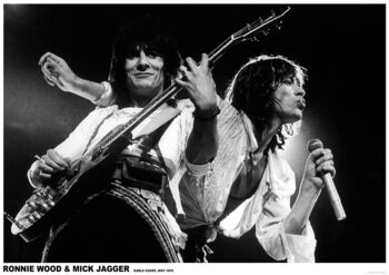 Juliste Mick Jagger and Ronnie Wood - Earls Court May 1976