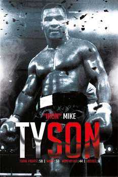 Juliste Mike Tyson - Boxing Record