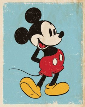 Juliste Mikki Hiiri (Mickey Mouse) - Retro