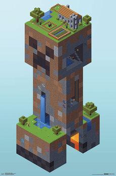 Juliste Minecraft - Creeper Village