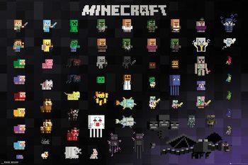 Juliste  Minecraft - Pixel Sprites