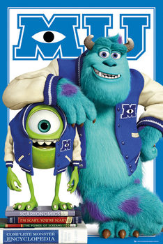 Juliste MONSTERS UNIVERSITY - mike and sulley