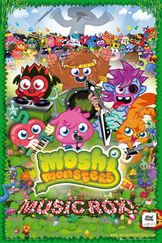 Juliste Moshi monsters - music rox