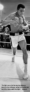 Juliste Muhammad Ali - training