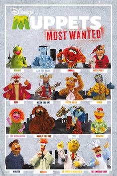 Juliste  MUPPETS MOST WANTED - compilation