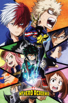 Juliste  My Hero Academia - Characters Mosaic