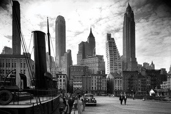 Juliste New York - city pier 1937