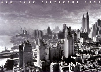 Juliste New York Cityscape 1931
