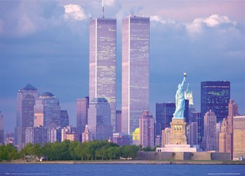 Juliste New York - twin towers