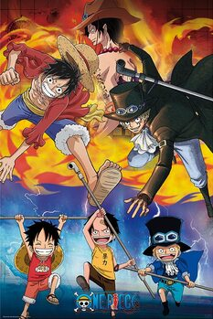 Juliste One Piece - Ace Sabo Luffy