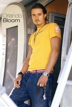 Juliste ORLAND BLOOM - yellow shirt