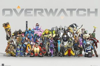 Juliste  Overwatch - Anniversary Line Up