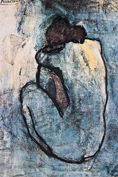 Juliste Pablo Picasso - sininen alaston 1902