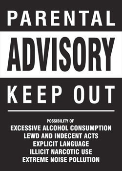Juliste Parental advisory - keep out