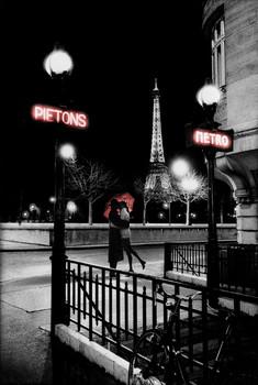 Juliste Pariisi - metro