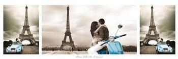 Juliste Pariisi - triptych