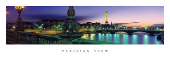 Juliste Pariisiien view - color
