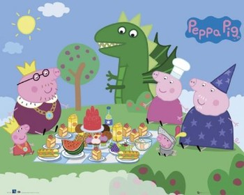 Juliste PEPPA PIG - picnic
