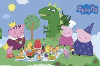 Juliste PEPPA PIG - princess picnic