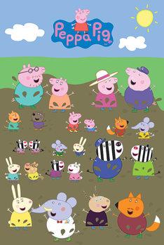 Juliste  Pipsa Possu - Characters Muddy Puddle