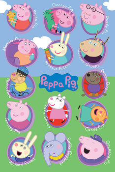 Juliste  Pipsa Possu - Multi Characters