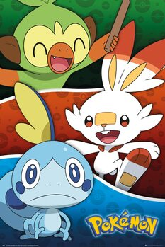 Juliste Pokemon - Galar Starters