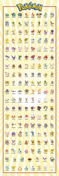 Juliste Pokemon - Kanto 151
